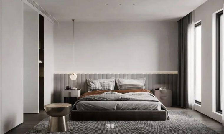 极简白+体块感,优雅现代的艺术大宅_18