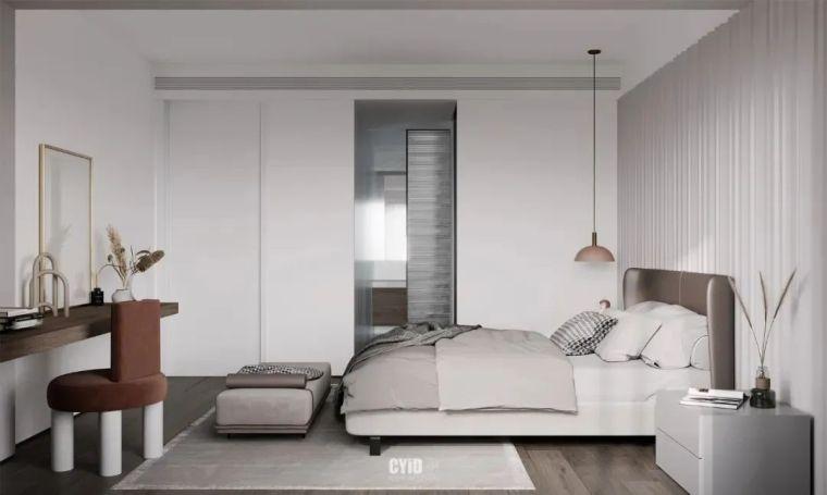 极简白+体块感,优雅现代的艺术大宅_21