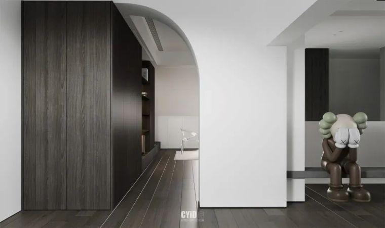 极简白+体块感,优雅现代的艺术大宅_24