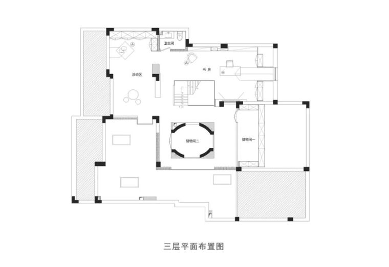极简白+体块感,优雅现代的艺术大宅_29