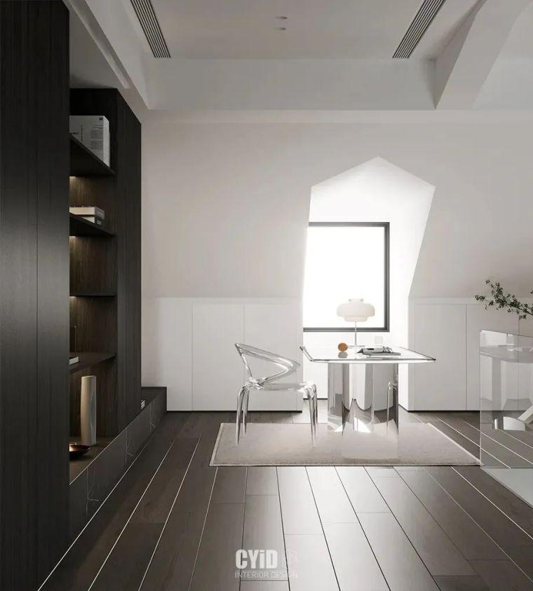 极简白+体块感,优雅现代的艺术大宅_26