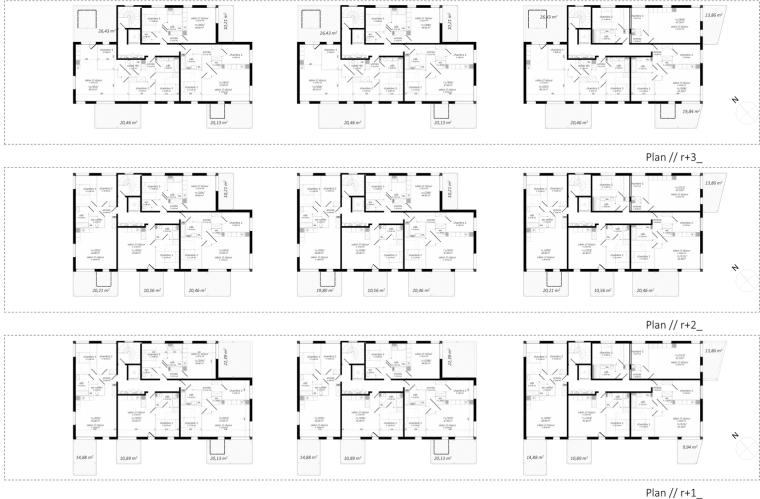 法国南特的45套住房平面图1