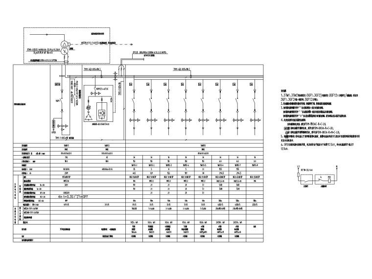 [四川]地铁培训基地电气施工图2016-4低压配电系统图