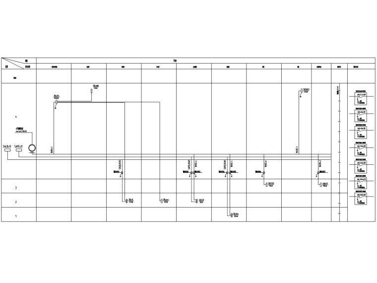 [四川]地铁培训基地电气施工图2016-3竖向配电系统图
