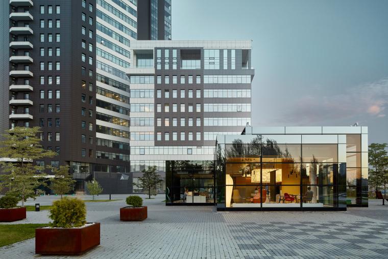 俄罗斯CLEVERPARK售楼处-俄罗斯CLEVER PARK售楼处外部实景图