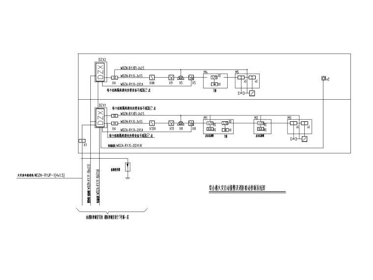[四川]地铁培训基地电气施工图2016-5火灾自动报警及消防联动控制系统图