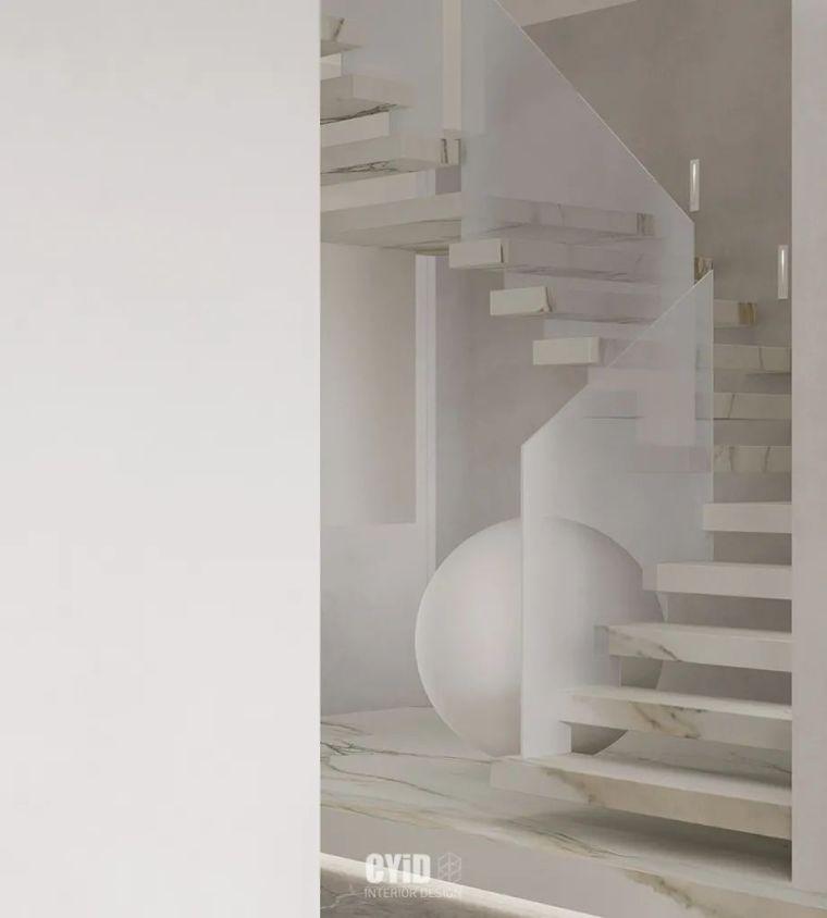 极简白+体块感,优雅现代的艺术大宅_1