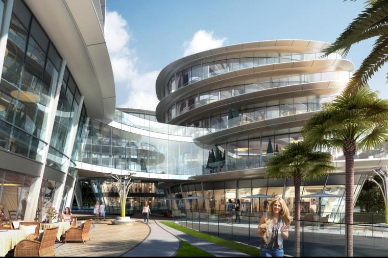 [上海]现代风格豪宅+办公建筑概念规划设计-效果图