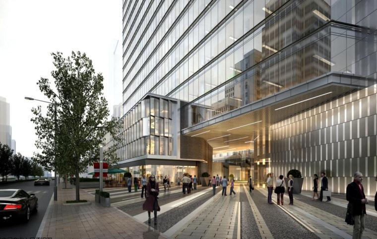 [江苏]现代风格商业办公+公寓建筑方案设计-01效果