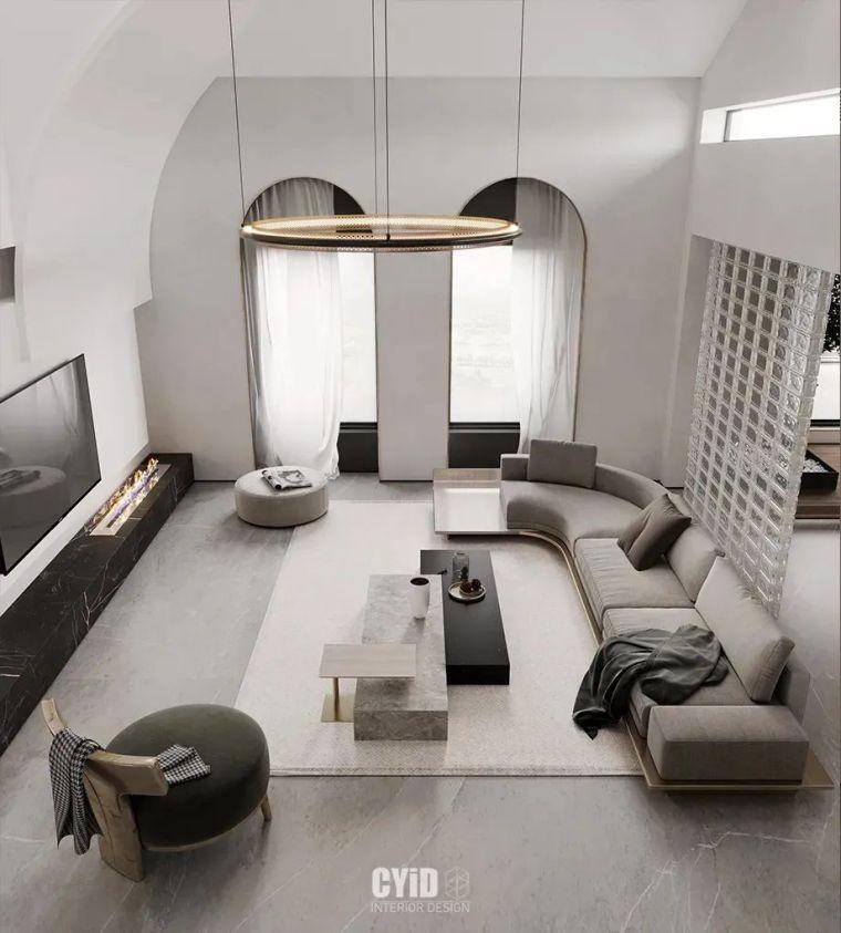 极简白+体块感,优雅现代的艺术大宅_5