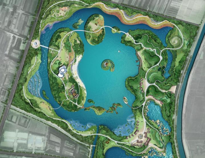 [江苏]邳州植物园项目初步方案构想-1-项目平面图