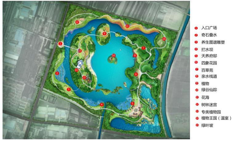 [江苏]邳州植物园项目初步方案构想-2-示意性总平面图