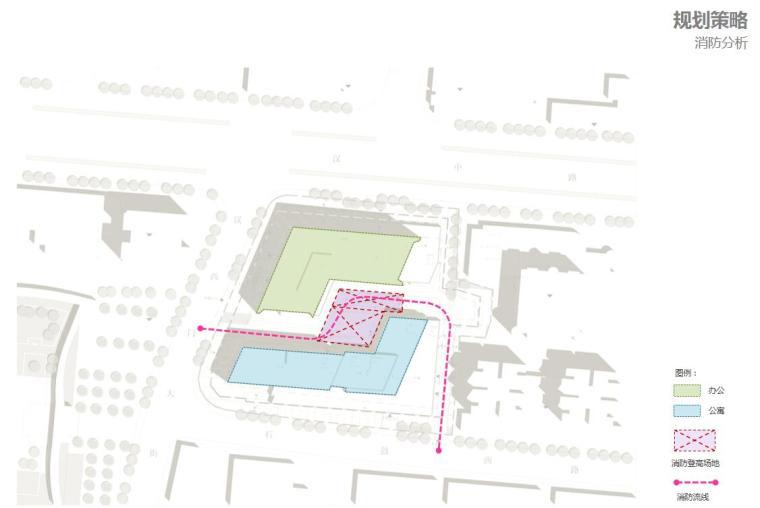 [江苏]现代风格商业办公+公寓建筑方案设计-消防分析