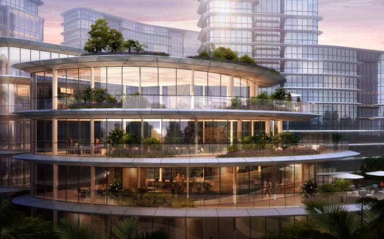 [上海]现代风格豪宅+办公建筑概念规划设计-效果图1