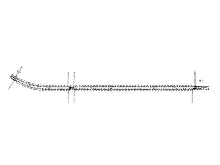 [重庆]单向双洞三车道隧道容貌整治设计图-05真武山隧道总平面图-布局1