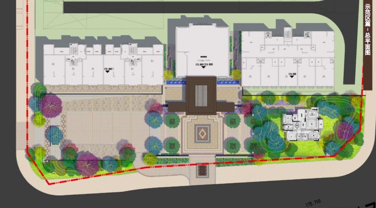 [福建]三明知名地产中式风格居住区景观设计-总平面图