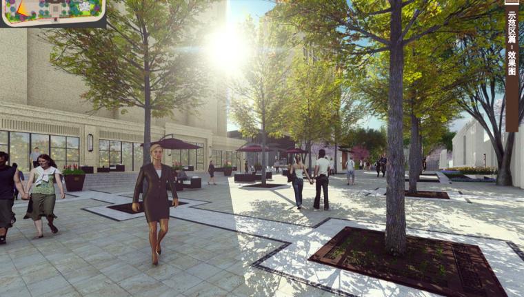 [福建]三明知名地产中式风格居住区景观设计-广场效果图