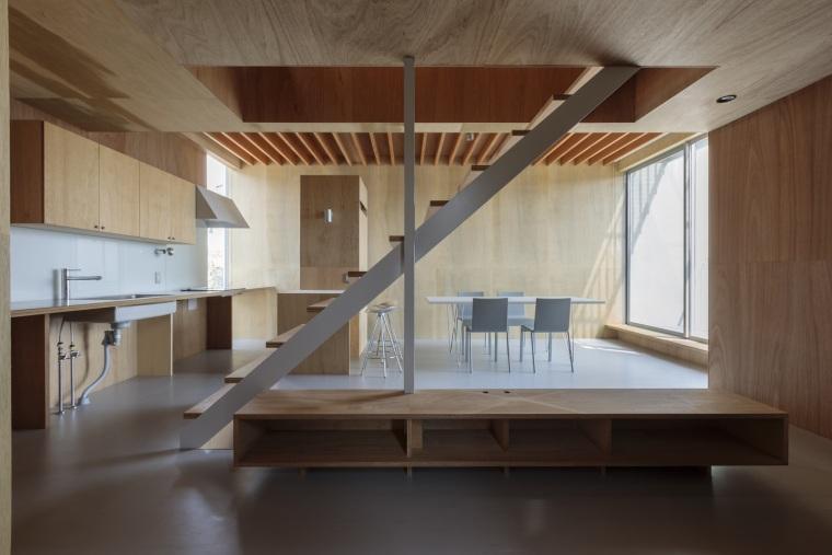 日本广岛山崖之宅室内实景图12