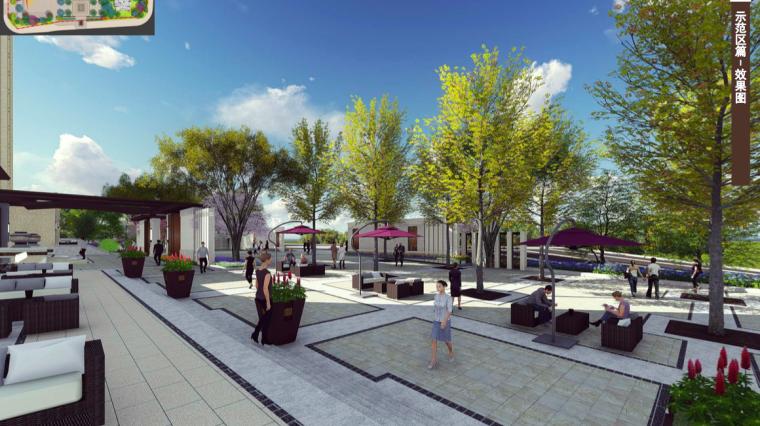 [福建]三明知名地产中式风格居住区景观设计-会客区效果图