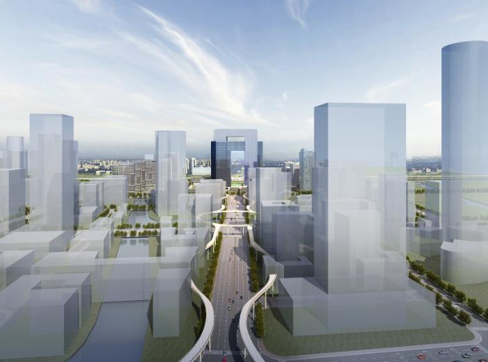 宁波鄞州南部商务区门户区概念规划设计文本-效果图3