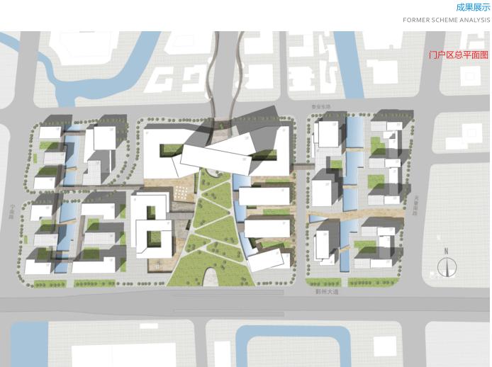 宁波鄞州南部商务区门户区概念规划设计文本-门户区总平面图