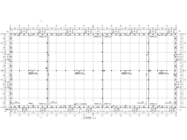 [江苏]单层排架结构丙类工业仓库施工图2017-建筑平面图