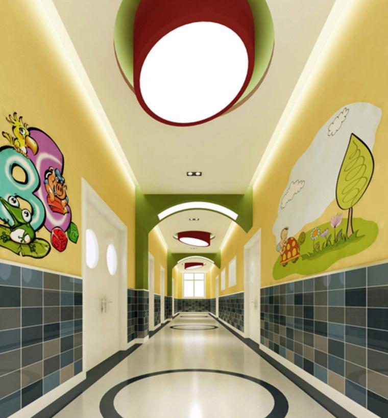 幼儿园室内设计案例效果图-幼儿园效果图 (3)