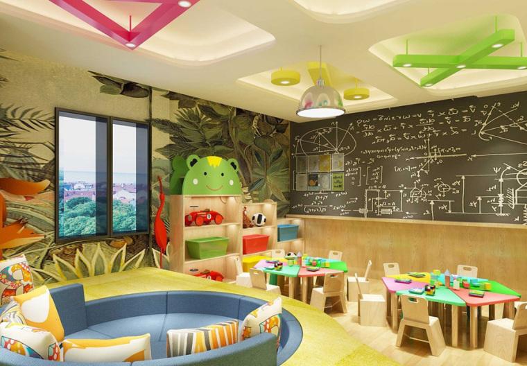 幼儿园室内设计案例效果图-幼儿园效果图 (6)