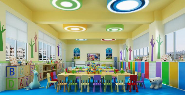 幼儿园室内设计案例效果图-幼儿园效果图 (12)
