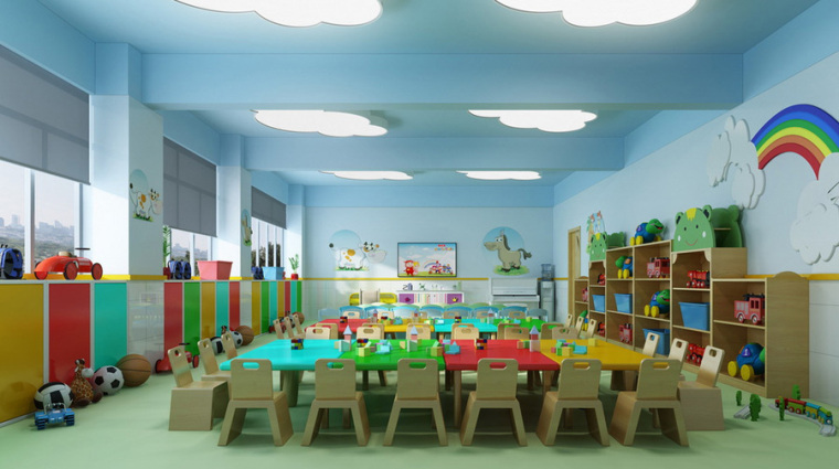 幼儿园室内设计案例效果图-幼儿园效果图 (11)