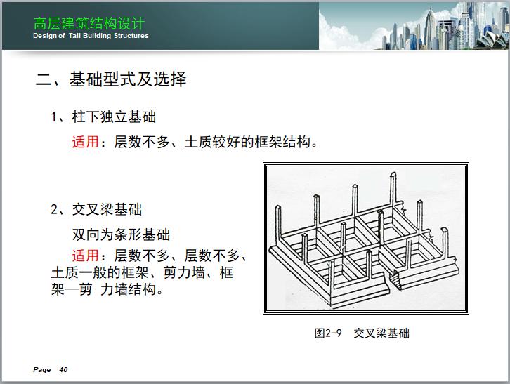 高层建筑结构设计讲义(150页)-交叉梁基础