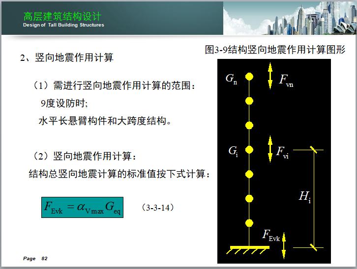高层建筑结构设计讲义(150页)-竖向地震作用计算