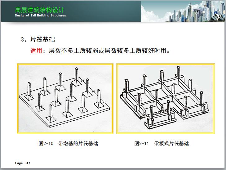 高层建筑结构设计讲义(150页)-片筏基础