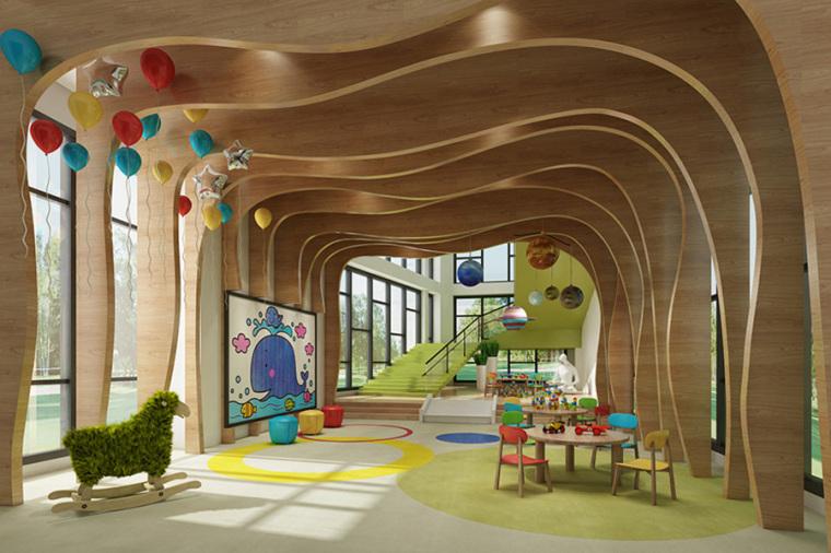 幼儿园室内设计案例效果图-幼儿园效果图 (15)