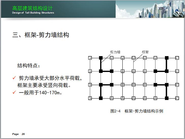 高层建筑结构设计讲义(150页)-框架-剪力墙结构示例