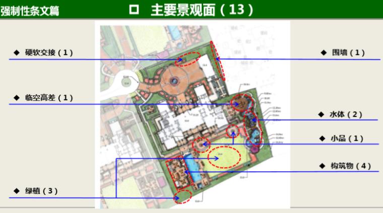知名地产景观工程营造管控技术交流(145页)-主要景观面