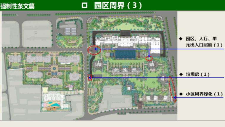 知名地产景观工程营造管控技术交流(145页)-园区周界