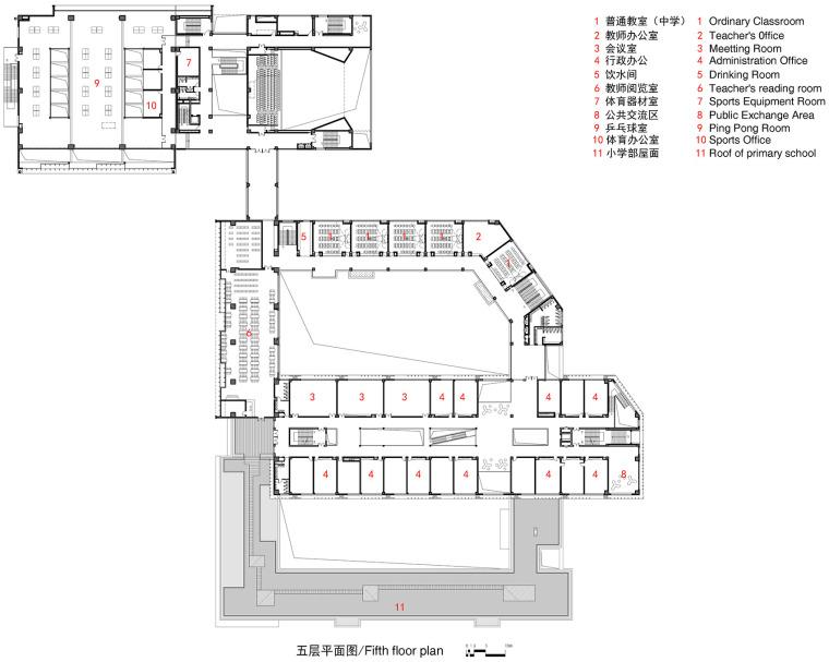 上海华东师范大学第二附属中学前滩学校平面图5