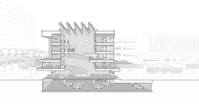 上海华东师范大学第二附属中学前滩学校剖透视图2