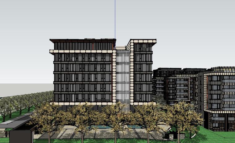 [上海]知名企业现代风启动区建筑模型设计-知名企业现代风启动区建筑模型设计 (1)
