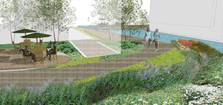 [上海]现代生态都市商务区绿色景观设计方案-商业空间景观效果图2