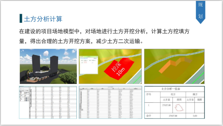基于BIM全过程工程咨询解决方案探讨(112页)-土方分析计算