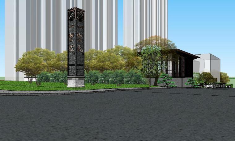 [陕西]中式风格示范区建筑模型设计-中式风格示范区建筑模型设计 (1)