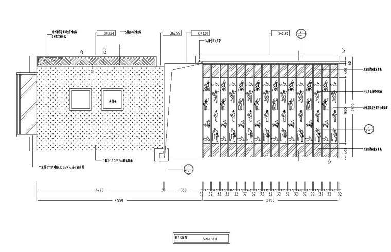 中式古典住宅装修施工图设计-立面图1