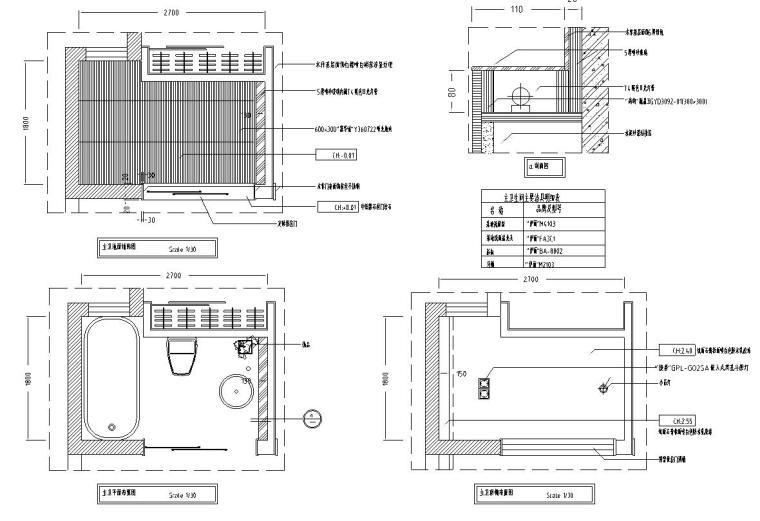 中式古典住宅装修施工图设计-立面图3