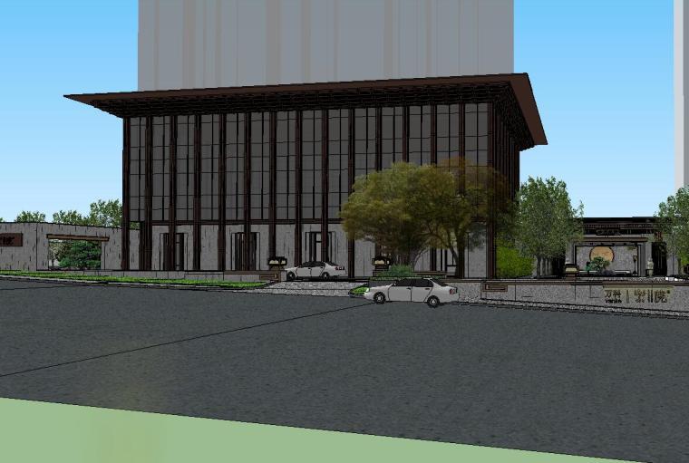 [陕西]中式风格示范区建筑模型设计-中式风格示范区建筑模型设计 (3)