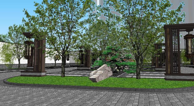 [陕西]中式风格示范区建筑模型设计-中式风格示范区建筑模型设计 (5)