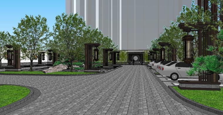[陕西]中式风格示范区建筑模型设计-中式风格示范区建筑模型设计 (4)