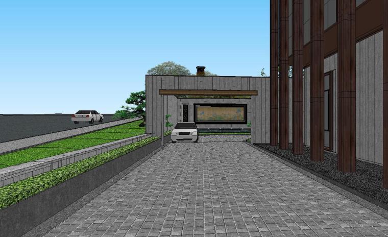 [陕西]中式风格示范区建筑模型设计-中式风格示范区建筑模型设计 (7)