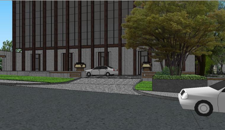 [陕西]中式风格示范区建筑模型设计-中式风格示范区建筑模型设计 (6)
